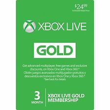 Microsoft 3 Month Xbox Live Gold Membership Subscription / 12-6-3 = 3