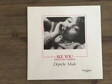 "Depeche Mode ‎– See You 12"" RED MARBLE!! German Press Mute ‎– INT 126.802"