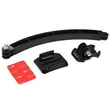 Motorcycle Cycling Helmet Curved Extension Arm Mount Set for GoPro HERO 1 2 3 4