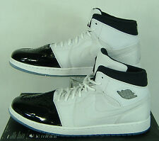 New Mens 18 NIKE Air Jordan 1 Retro 95 TXT White Black Shoes $130 616369-195
