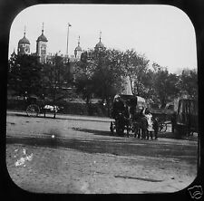 Glass Magic lantern Slide LONDON LIFE - THE TOWER OF LONDON C1890
