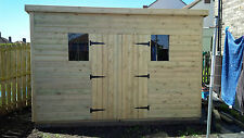 GARDEN SHED  HEAVY DUTY TANALISED 12X8 PENT 13MM T&G. 3X2.