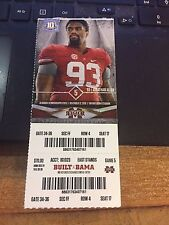 2016 ALABAMA CRIMSON TIDE VS MISSISSIPPI ST COLLEGE FOOTBALL TICKET STUB 11/12