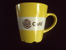 BURGER KING CAFE I LOVE COFFEE 2012 EDITION YELLOW MUG FREE UK POST