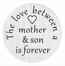 Floating Charm Living Locket 22mm Plate Love Between Mother and Son #2