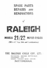 1927 Raleigh Model 21/22 4.98hp spare parts, repairs and renovation