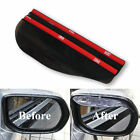 2 Pcs Universal Rear View Black Side Mirror Rain Snow Shield For Car Auto