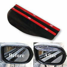 Lots 2 Pcs Universal Rear View Black Side Mirror Rain Snow Shield For Car Auto