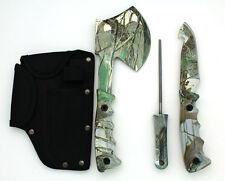Snake Eye Tactical Heavy Duty 4PC Big Game Hunting Knife Set Light Green Camo