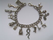 NEW Stunning Handmade Silver Harry Potter  Chain Bracelet with 14 Charms c