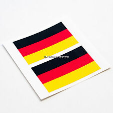 2x GERMANY FLAG German Laminated Car,Van,Bumper,Laptop DUB Vinyl Decal Stickers