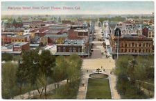 Postcard Mariposa Street from the Courthouse in Fresno, California~105878