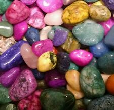 500cts Mixed Dyed Bright Colorful Assorted bulk tumbled Gem stone mix 1/4lb