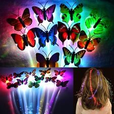 Butterfly Flash LED Hair Girl Clip Hairpin Decor Halloween Chirstmas Party Dance