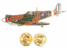 Spitfire 3/4 Turn RAF Enamel Lapel Pin Badge