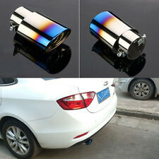 Burnt Blue Titanium Stainless Steel Car Oval Rear Exhaust Pipe Tail Muffler Tip