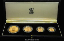 1989 UK First Gold Sovereign 500th Anniv. Gold Proof Sovereign 4 Coin Collection