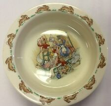 Vintage Royal Doulton England BUNNYKINS Child Baby Cereal Bowl Bunny Dish