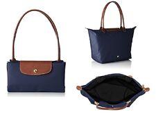 Longchamp New Le Pliage Nylon Tote Handbag Navy Blue Large