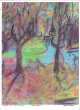 """PARK DAY"" by IRMA Freeman DIGITAL PRINT / PASTEL  8 1/2"" X 11"""