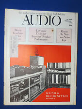 AUDIO MAGAZINE FEBRUARY 1968 SHURE M75E REVIEW 3 CHANNEL ELECT CROSSOVERS & MORE