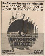 Z8455 Compagnie de Navigation Mixte - Pubblicità d'epoca - 1935 Old advertising