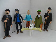 Tin tin et amis cake toppers 6 plastic figures brand new free p + p