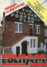 Fulham v Chelsea - Div 2 - 2/4/1983 - Football Programme