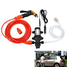 80W 130PSI High Pressure Car Electric Washer Wash Pump 12V Portable Clean Set