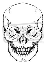 A7 'Forward Facing Skull' Unmounted Rubber Stamp (SP000133)