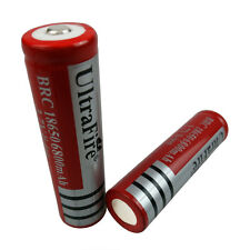 2X 3.7V 18650 Li-ion 6800mAh Rechargeable Battery for UltraFire Torch Flashlight