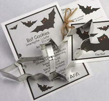 BAT ~ HALLOWEEN CAT ~ tin cookie cutter DUO ~ MADE IN THE USA (NEW)