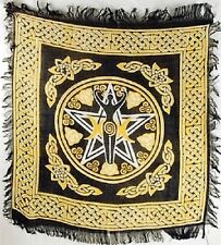 "Pentagram Goddess  Altar / Tarot Cloth 18"" x 18"" (NEW, Wicca Pagan)"