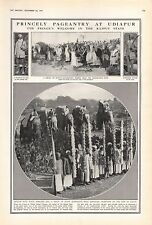 1921 - PRINT-PRINCE'S WELCOME TO RAJPUT, PAGEANTRY AT UDIAPUR, ELEPHANTS
