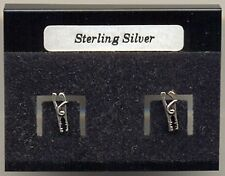 Jump Lead Sterling Silver 925 Studs Earrings Carded
