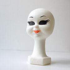personnage vintage design années 70 Tête style chapeau Twiggy poupée plastique
