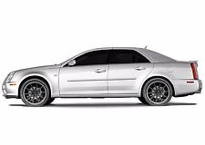 FITS CADILLAC STS 2005-2011 PAINTED BODY DOOR MOLDINGS W/ CHROME INSERT 4PCS