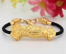 Authentic 999 24K Yellow Gold Pendant 3D Lovely Ruyi Long Pendant 1pcs