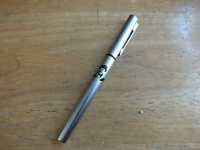 WATERMANS BRUSHED STEEL FOUNTAIN PEN IRAQ DICTATOR MARKINGS