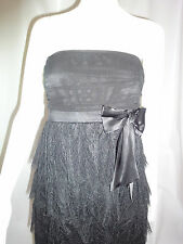 LAUNDRY BY SHELLI SEGAL Black Strapless lined  Ruffled Dress Size 10P