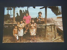 PRIMITIVE CHOCO INDIANS OF DARIEN PANAMA POSTCARD