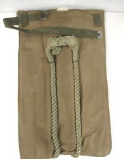 WWII US Army Heavy Duck Canvas Bailey Transport Bag w/Rope Handles - Unissued