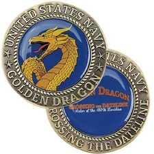 United States NAVY - CROSSING THE DATELINE - GOLDEN DRAGON Challenge Coin