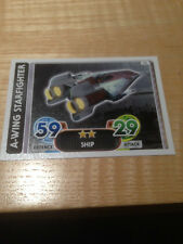 STAR WARS Force Awakens - Force Attax Trading Card #078 A-Wing Starfighter