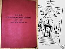 Rare Masonic book Rose Croix  Intermediate degrees 19- 29