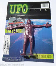 UNPUNCHED UFO FILES BENDABLE FIGURE BROWN ALIEN ~FREE SHIPPING #