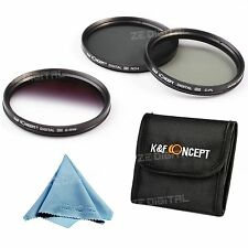 77mm Lens Filter Kit CPL ND4 Graduated Grey For Canon 24-105/70 100-400 70-200