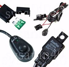 Relay Harness Wire Kit + LED ON / OFF Switch For Fog Lights HID for MITSUBISHI