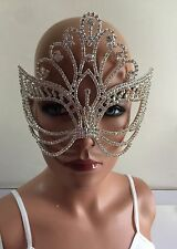 Rhinestone Crystal Venetian Masquerade Eye Mask Mardi Gras Wedding Halloween