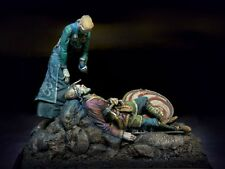 Viking Warrior Valhalla White metal figures Metal kit 54mm Tin toy soldiers